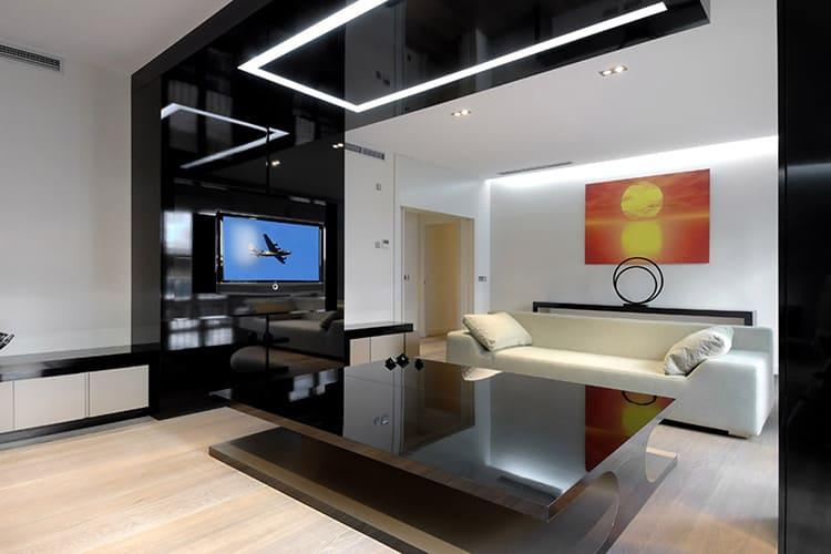 Мебель для гостиной в стиле хай-тек