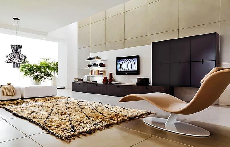 В интерьерах хай-тек мебель используется в минимальном количестве
