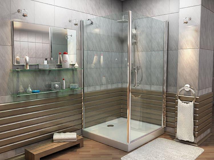 Вы можете использовать заводской поддон или ванную. В этом случае остаётся только решить вопрос с гидроизоляцией стен по периметру