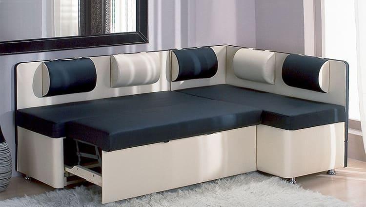 Угловой диван с механизмом трансформации «Дельфин»
