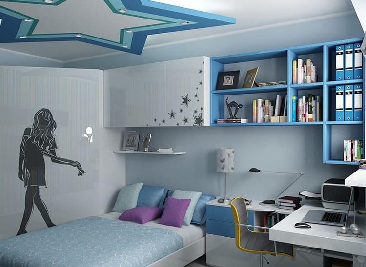 Дизайн подростковых комнат для девочек может быть в любом современном стиле
