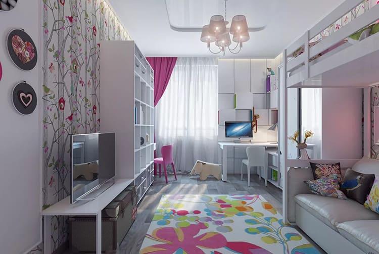 Пример проекта комнаты для девочки-подростка и дошкольницы
