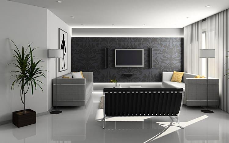 Обивка диванов должна быть однотонной и с грубой фактурой