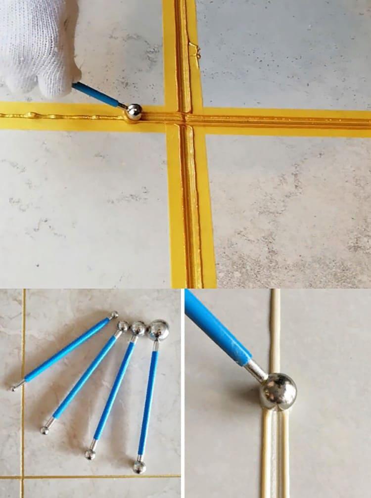 Набор палочек-с наконечниками для аккуратной затирки межплиточных стыков