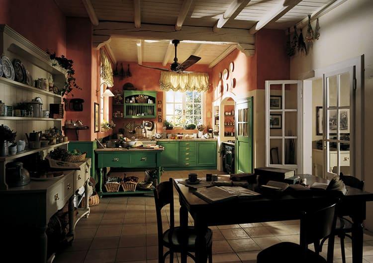 Даже полностью светлое помещение кухни необходимо дополнить коричневыми акцентами в виде обивочного материала мебели или столешницы обеденного стола
