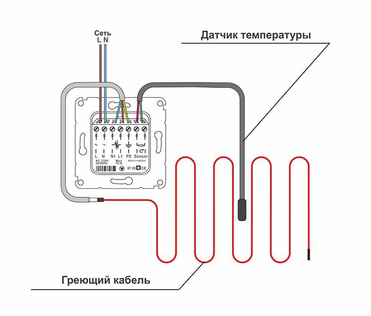 Информация от термодатчика определяет режим работы терморегулятора