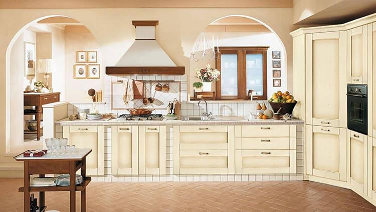 Красками оформляют стеновые и потолочные панели, весьма часто – фасад кухонной мебели