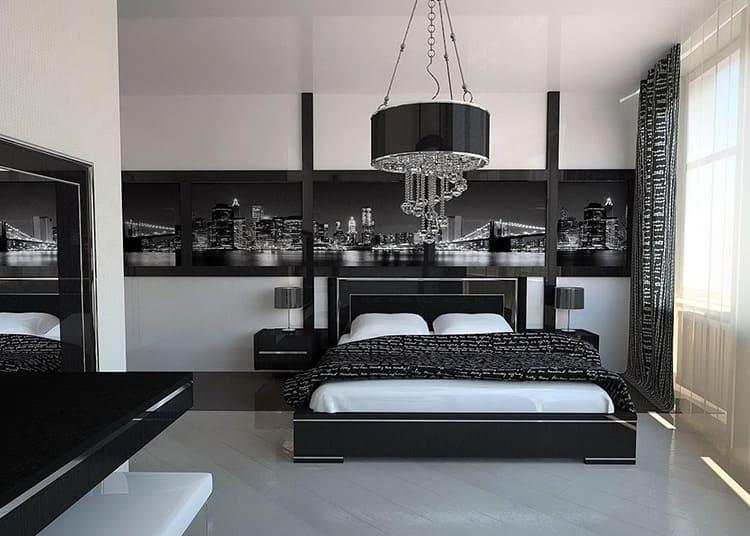 Великолепная спальня в стиле hi-tech
