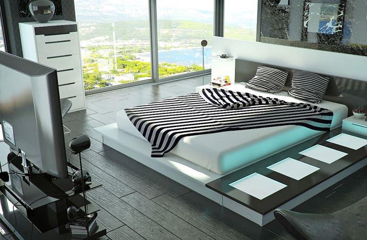 Роскошная спальня в суперсовременном стиле