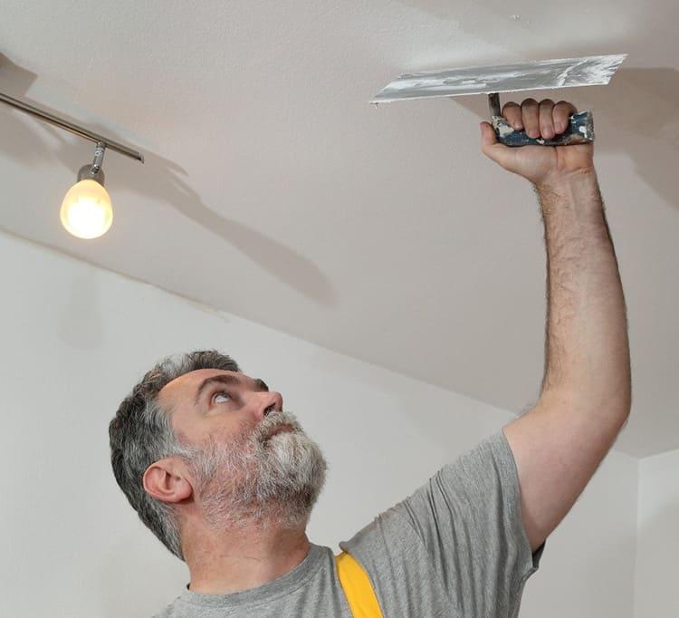 Шпаклёвка потолка под покраску