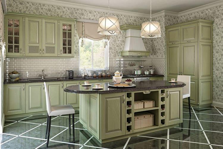 При светло-серых, бежевых стенах оптимальным сочетанием будет отделка с изумрудными или бутылочными оттенками