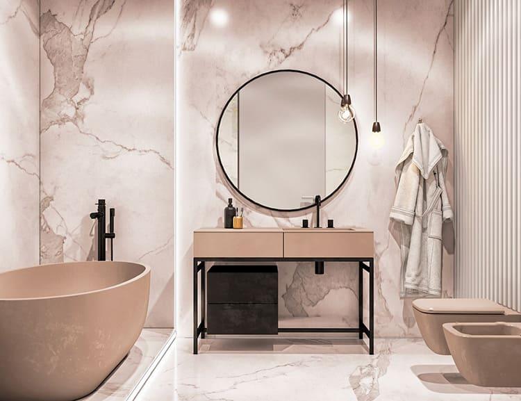 Дизайн ванной комнаты после ремонта «под ключ»