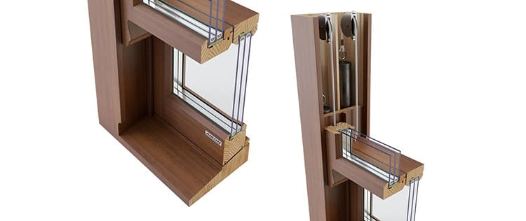 Деревянные окна со стеклопакетом: виды и устройство