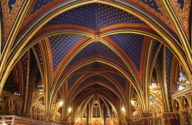 Нервюры собора Сан-Шапель в Париже