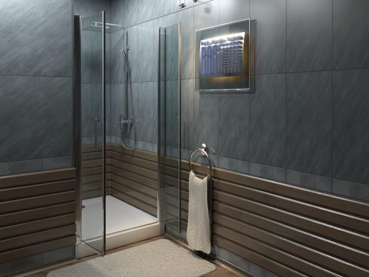 Ещё один распространенный вариант оформления внутренней стены – панели ПВХ. Их крепят на обрешётку из дерева, металла, или непосредственно на поверхность стены на специальный клей