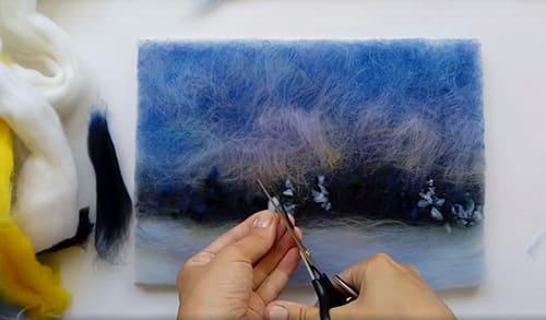 Картины из шерсти своими руками: поэтапные мастер-классы