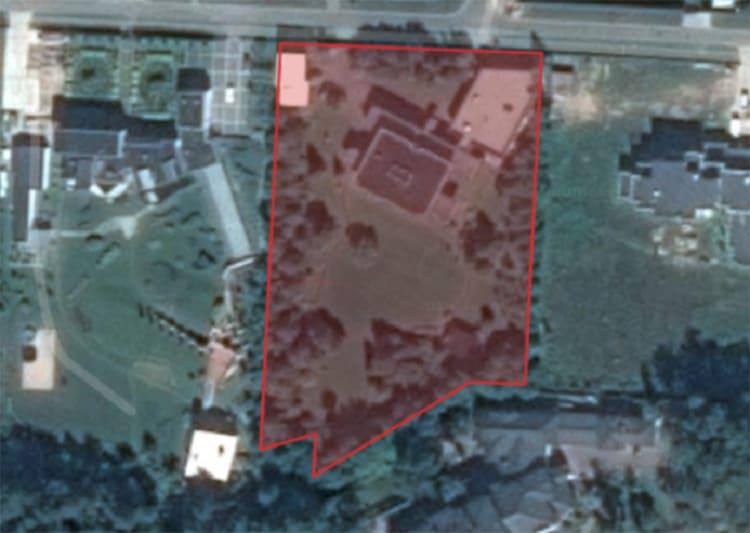 Планировка участка на карте