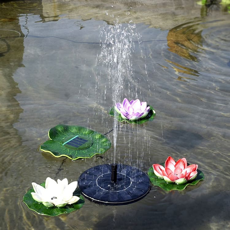 Самая простая модель фонтанчика с насадками стоит всего 750 рублей. Такой механизм можно использовать для водоёма любой глубины
