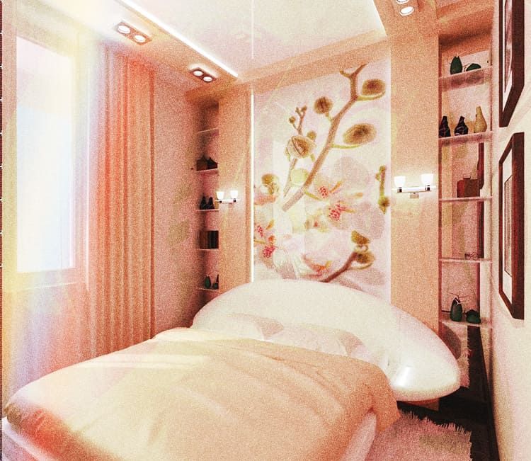 Сделать маленькую спальню комфортной и уютной вполне реально