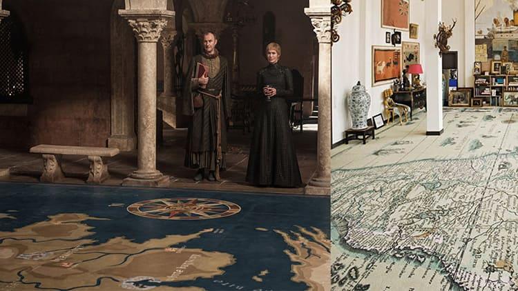 Ковёр-карта в королевском дворце