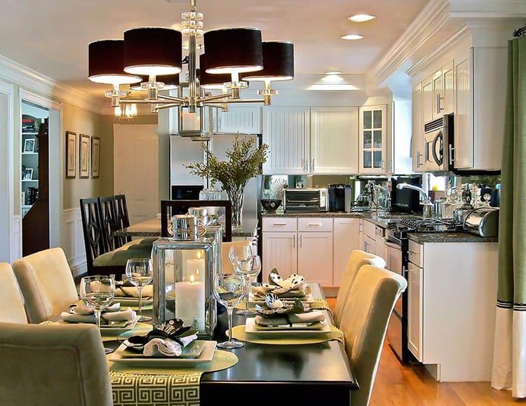 Чтобы сделать правильный выбор люстры для кухни, нужно учесть виды дизайнерской стилистики пространства и его размеры