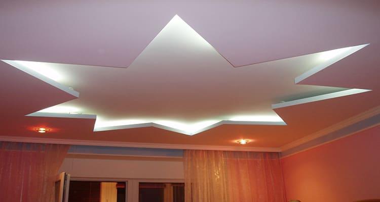 Дизайн подвесной конструкции зависит от назначения помещения