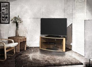 Тумбы под телевизор угловые: фото моделей и разновидности