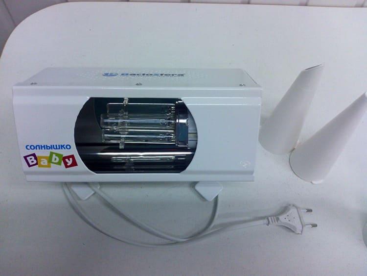 Если вам нужно дезинфицировать комнату, достаточно снять защитный кожух и поставить лампу в открытом виде