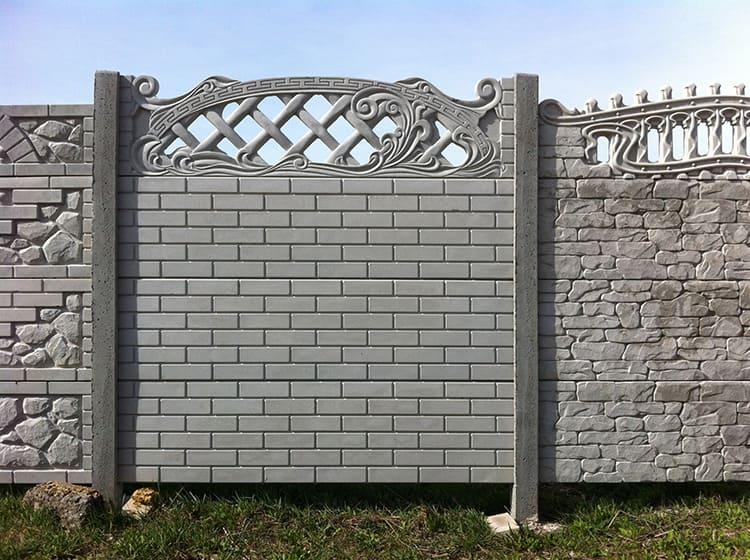 Если армировать такие трубы металлом и залить бетоном, то опоры станут массивными и очень прочными, что позволяет крепить на них полотнище еврозабора