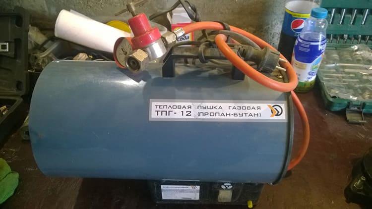 Тепловую газовую пушку можно установить в любом месте