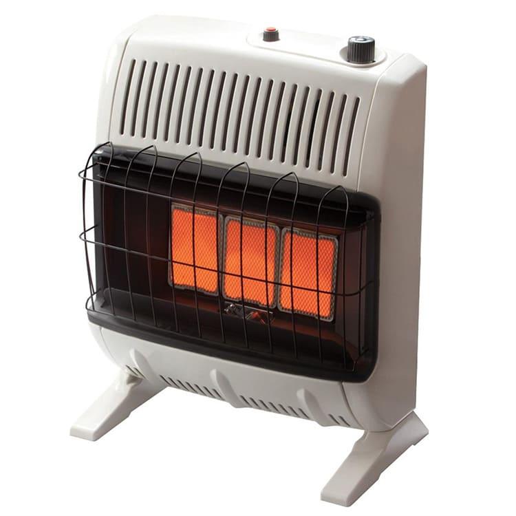 При наличии вентилятора температура в помещении повышается быстрее