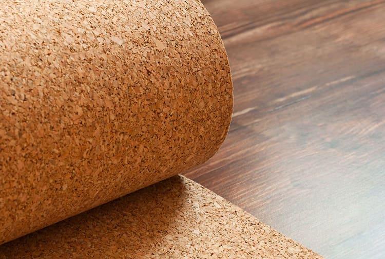Пробковый материал можно использовать и как финишное покрытие