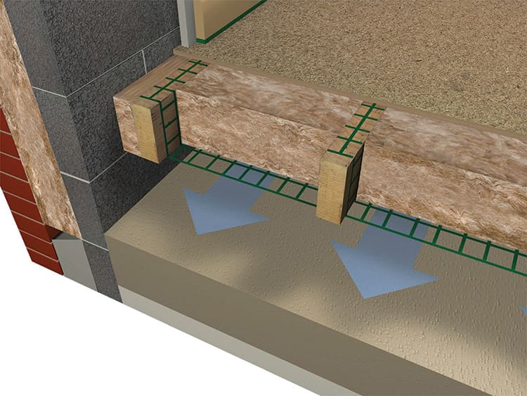 Для плитного основания используют утепление стяжки или по лагам