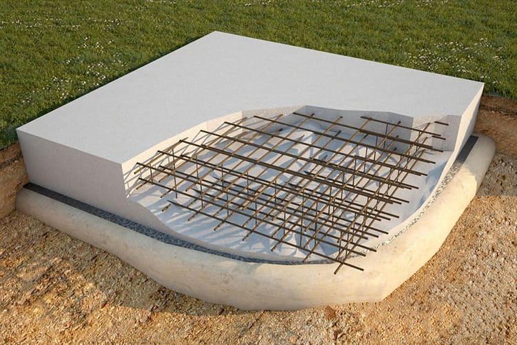 Монолитная плита повторяет контуры будущего здания