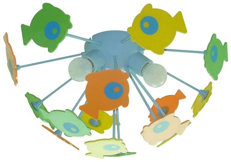 Популярная модель припотолочной люстры «Рыбки» торговой марки «Citilux», Дания, цена от 990 руб