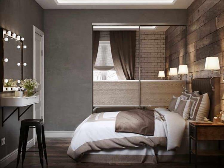 Небольшие размеры спальни являются самым главным недостатком