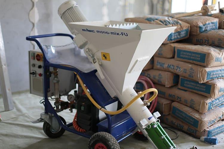 Для нанесения раствора требуется специальное механизированное оборудование