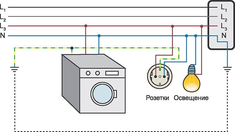 А это схема подключения одной квартиры в распределительном шкафу на лестничной клетке
