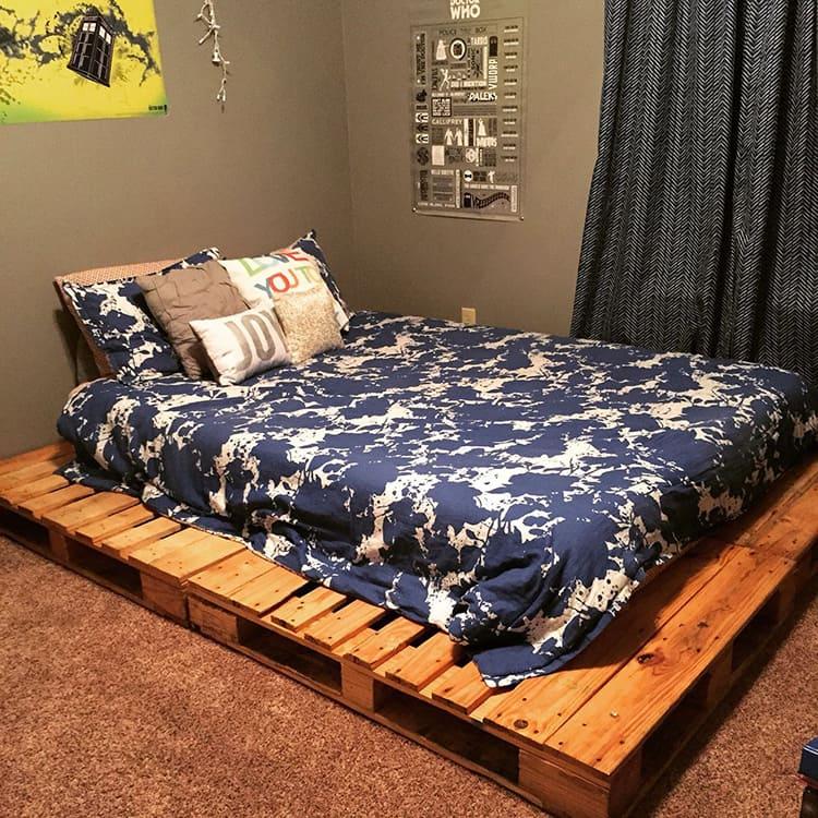 Такую кровать может собрать даже новичок в мебельном деле