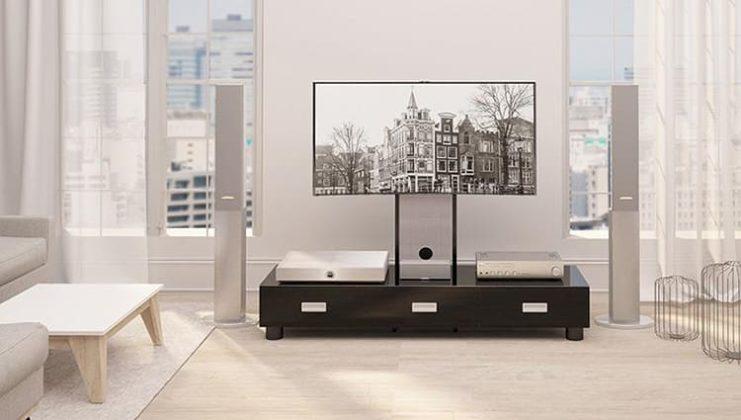 Современные угловые тумбы под телевизор: фото моделей и разновидности