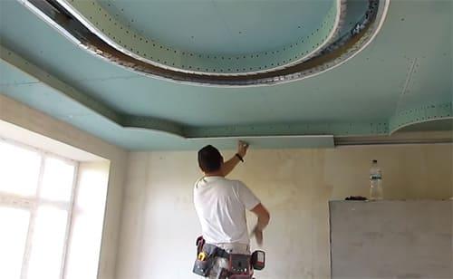 Стиль, индивидуальность, шик: подвесные потолки из гипсокартона (фото в интерьере)