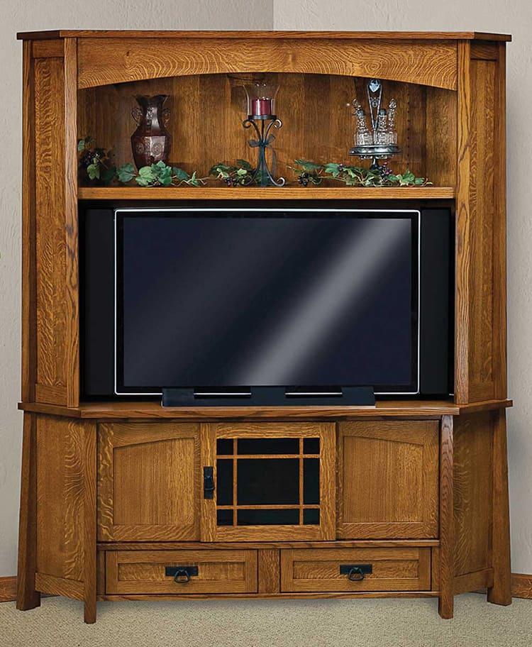 Фото угловой тумбочки под телевизор