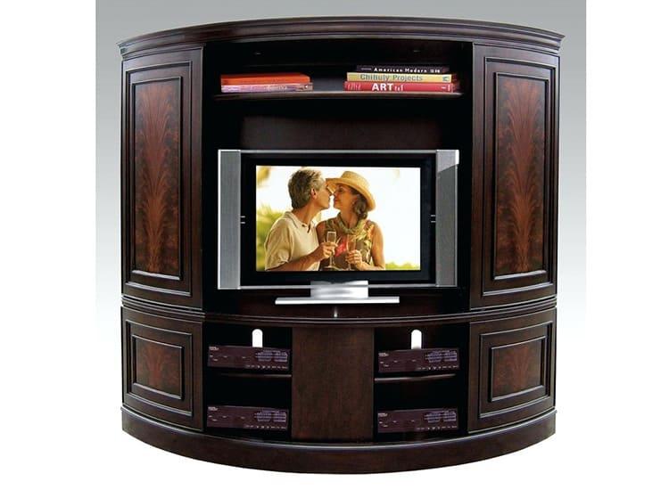 Полукруглая тумба под телевизор