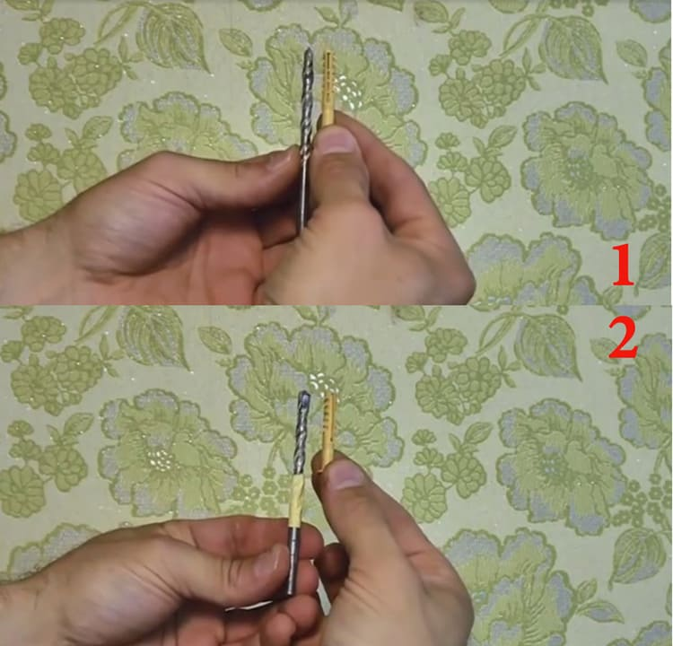 Скотч можно намотать на сверло в качестве визуального ограничителя глубины сверления