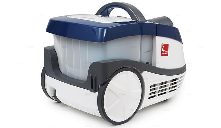 Эта модель оснащена двойной системой фильтрации: аквафильтром и НЕРА-фильтром, который можно мыть