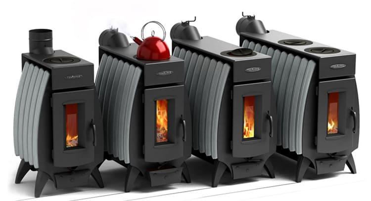 Это печь длительного горения от новосибирской компании выпускается в четырёх модификациях, все они оснащены теплообменником для воды