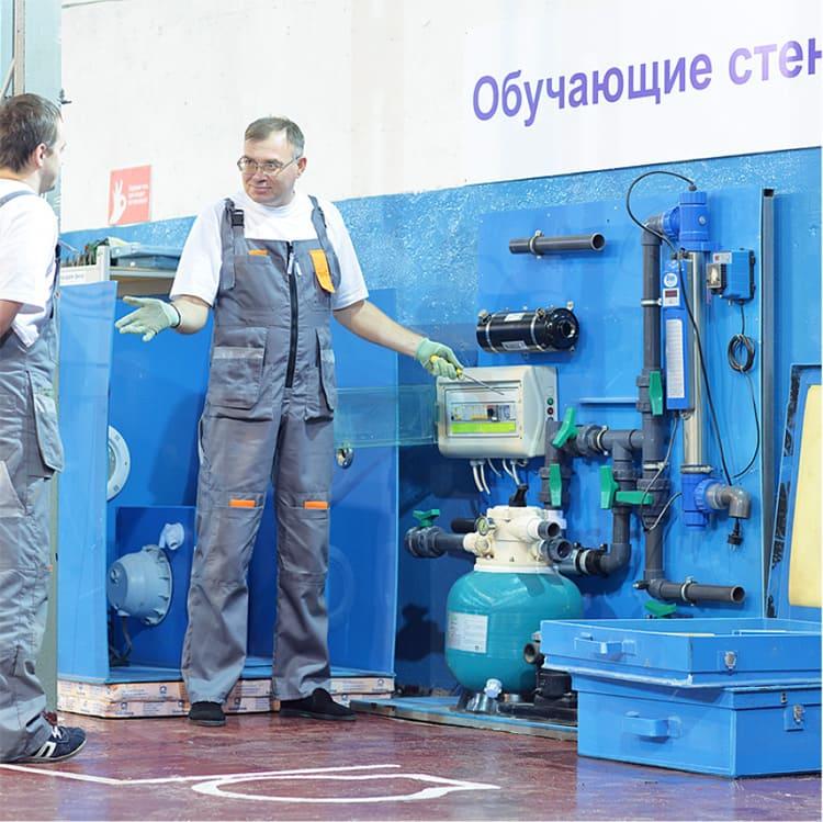 Процесс постоянного обучения сотрудников на производственной линии