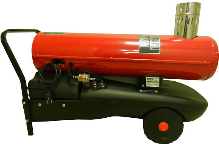 Мощность тепловой газовой пушки может варьироваться в широком диапазоне