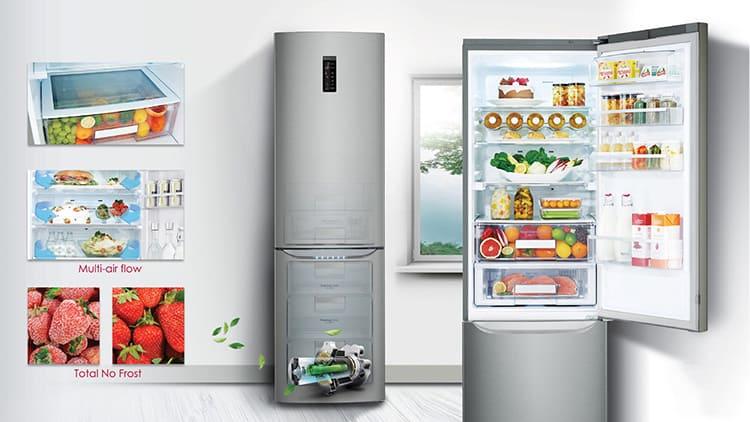 Такие холодильники не требуют разморозки и слива воды