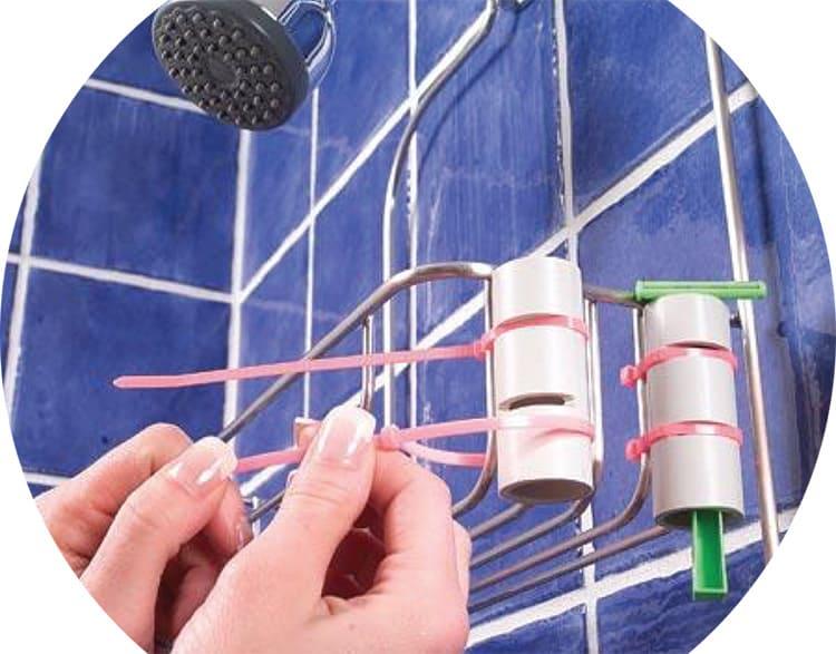 Если есть желание и руки, пластиковые хомуты могут быть весьма полезны